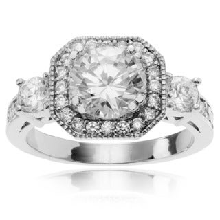 Journee Collection Round-cut Cubic Zirconia Engagement Ring