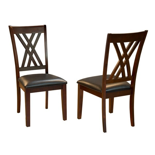 Asha Double X-Back Dining Chairs (Set of 2)