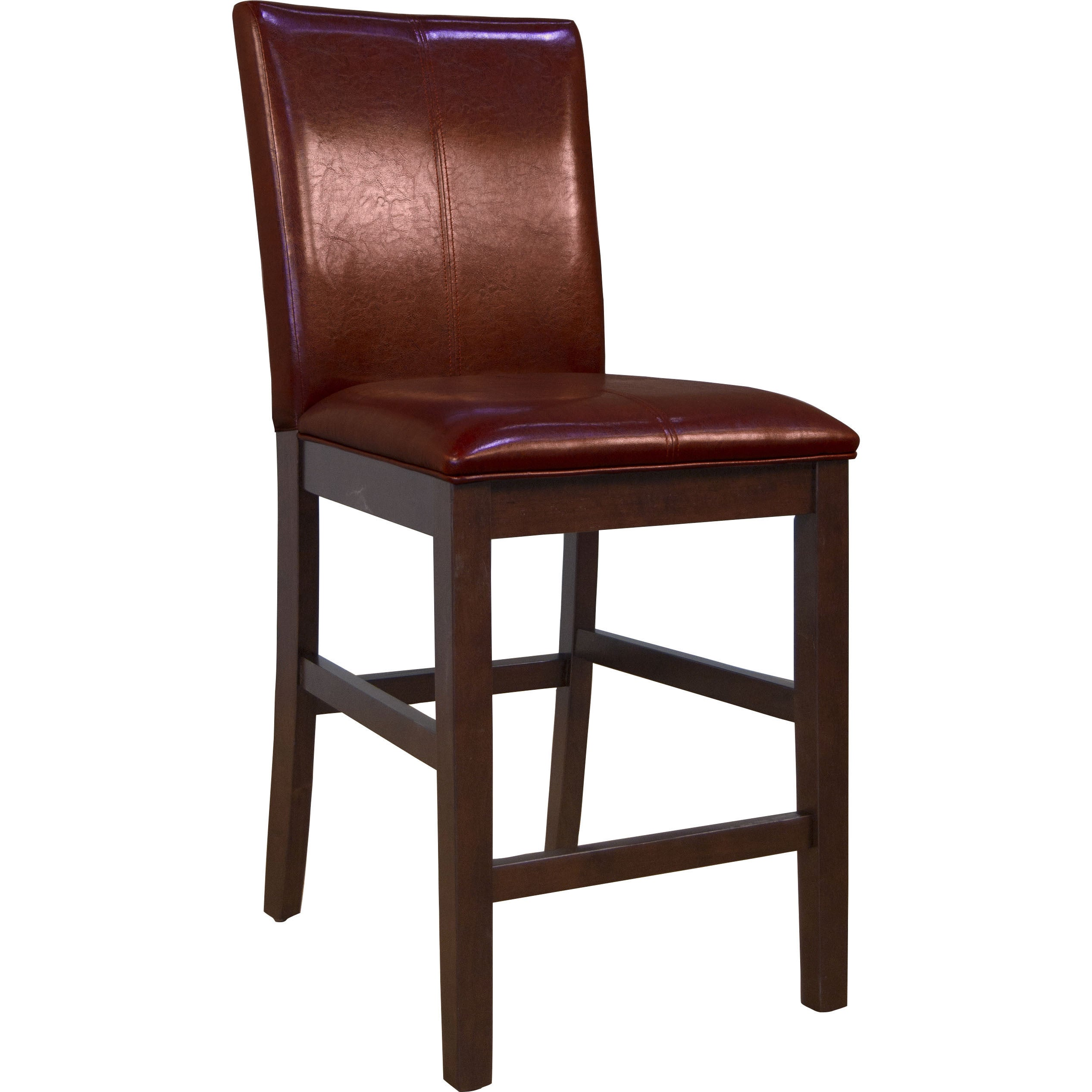 Simply Solid Alana Curved Back Parson Counter Chair Red (...