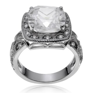 Journee Collection Metal Cubic Zirconia Square Engagement Ring