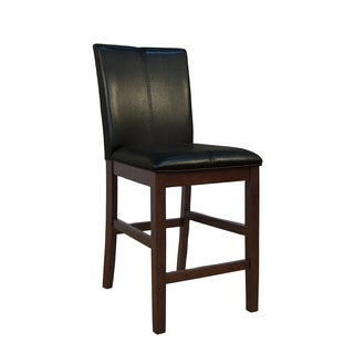Simply Solid Alana Curved Back Black Parson Counter Stool (Set of 2)