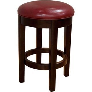 Alana Upholstered Swivel Counter Stool Red (Set of 2)
