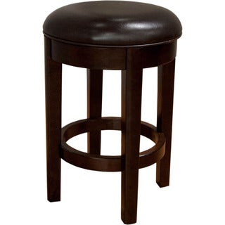 Alana Upholstered Swivel Counter Stool Brown (Set of 2)