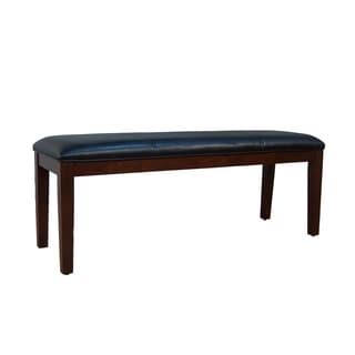 Black Alana Upholstered Bench