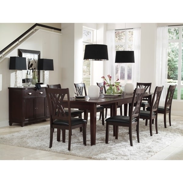 12 Piece Dining Room Set: Shop Asha Solid Wood 12-Piece Dining Collection