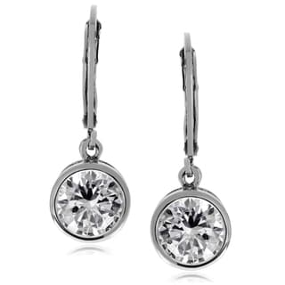 Journee Collection Metal Cubic Zirconia Round Dangle Earrings