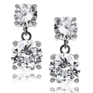 Journee Collection Metal Cubic Zirconia Post Dangle Earrings