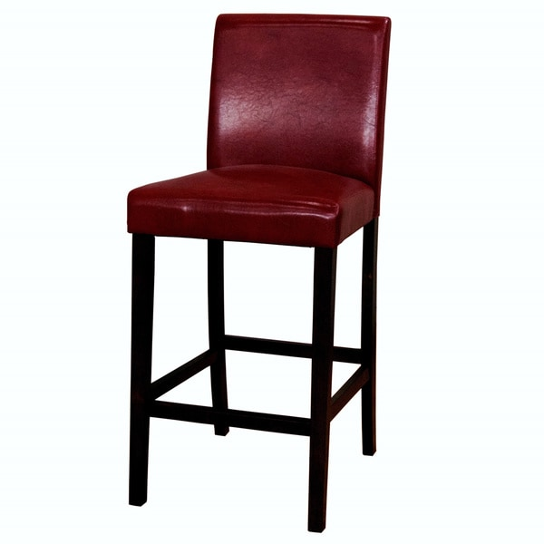 shop alana low red back parson bar stool set of 2 on sale free shipping today overstock. Black Bedroom Furniture Sets. Home Design Ideas
