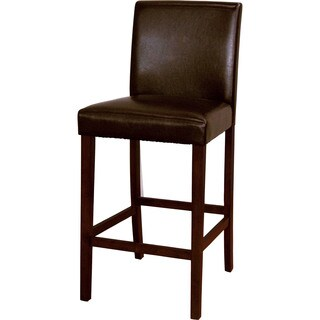 Lopez 30 Inch Brown Leather Bar Stools By Christopher