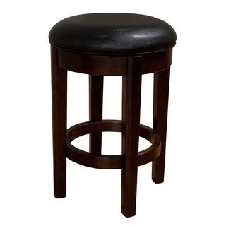 Simply Solid Alana Black Upholstered Swivel Counter Stool (Set of 2)
