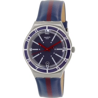 Swatch Men's Irony YGS467 Blue Leather Swiss Quartz Watch