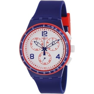 Swatch Men's Originals SUSZ100 Blue Silicone Swiss Quartz Watch
