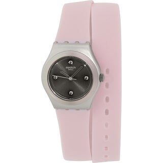 Swatch Women's Irony YSS1009 Pink Silicone Swiss Quartz Watch