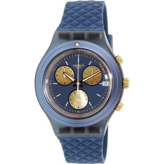 Swatch Men's Irony SVCN4006 Blue Rubber Swiss Quartz Watch