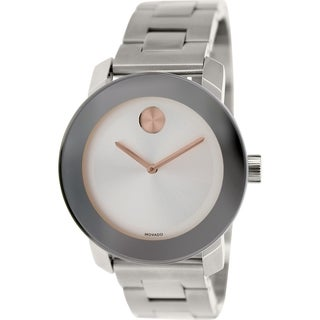Movado Women's Bold 3600084 Silver Stainless-Steel Swiss Quartz Watch
