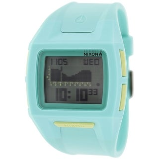 Nixon Women's Lodown A364302 Light Blue Plastic Quartz Watch