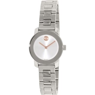 Movado Women's Bold 3600234 Silver Stainless-Steel Swiss Quartz Watch