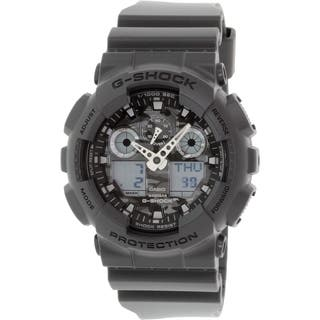 Casio Men's G-Shock GA100CF-8A Grey Resin Quartz Watch|https://ak1.ostkcdn.com/images/products/10434930/P17532467.jpg?impolicy=medium