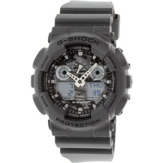 Casio Men's G-Shock GA100CF-8A Grey Resin Quartz Watch