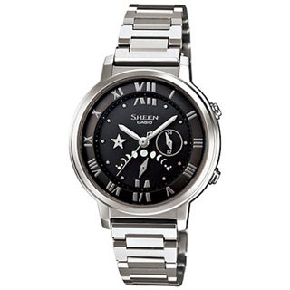 Casio Men's Sheen SHE3501SBD-1A Silver Stainless-Steel Quartz Watch