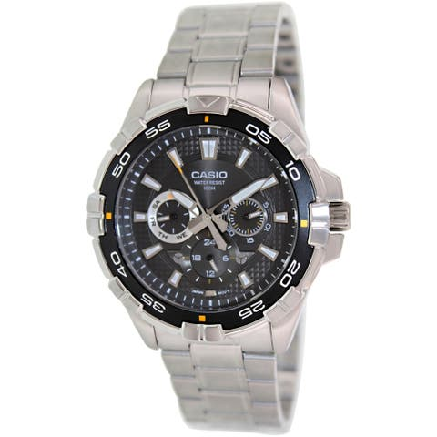 Casio Men's Core Silver Stainless-Steel Quartz Watch