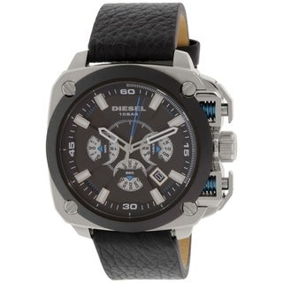 Diesel Men's DZ7345 Black Leather Quartz Watch