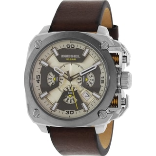 Diesel Men's DZ7343 Brown Leather Quartz Watch