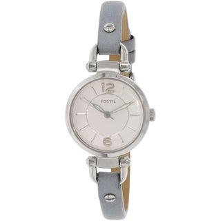 Fossil Women's Georgia ES3822 Grey Leather Quartz Watch