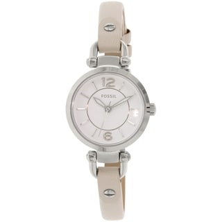 Fossil Women's Georgia ES3808 Beige Leather Quartz Watch