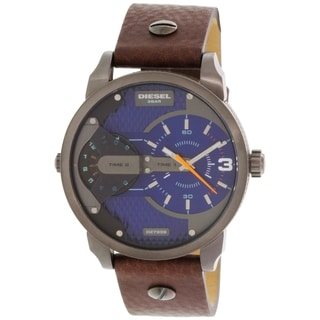 Diesel Men's DZ7339 Brown Leather Quartz Watch