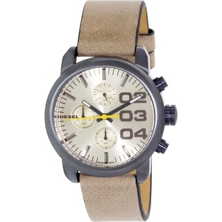 Diesel Women's DZ5462 Beige Leather Quartz Watch