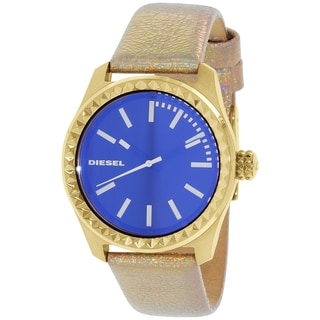 Diesel Women's DZ5460 Gold Leather Quartz Watch