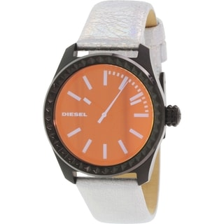 Diesel Women's DZ5459 Silver Leather Quartz Watch