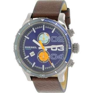Diesel Men's DZ4350 Brown Leather Leather Quartz Watch