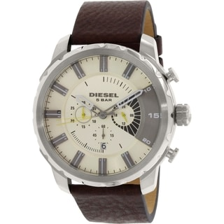 Diesel Men's DZ4346 Brown Leather Quartz Watch