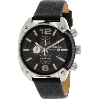 Diesel Men's DZ4341 Black Leather Quartz Watch|https://ak1.ostkcdn.com/images/products/10435011/P17532527.jpg?impolicy=medium