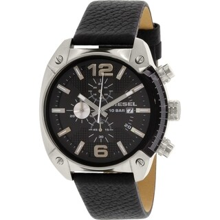 Diesel Men's DZ4341 Black Leather Quartz Watch