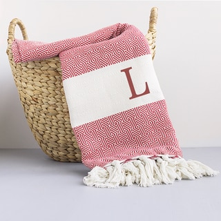 Personalized Red Turkish Throw Blanket