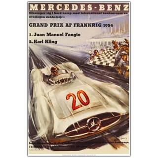 'Mercedes Benz Grand Pris' Canvas Art