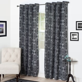 Windsor Home Desiree Flocked Curtain Panel (More options available)