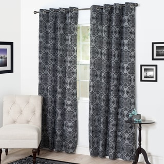 Link to Windsor Home Desiree Flocked Curtain Panel Similar Items in As Is