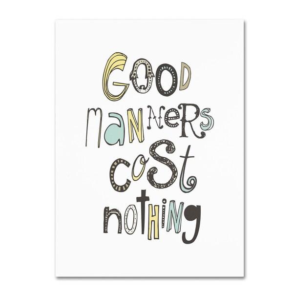 Megan Romo 'Good Manners III' Canvas Art - Multi