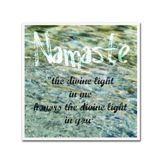 Michelle Calkins 'Namaste with Water Pool' Canvas Art