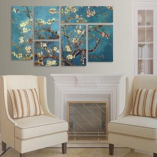 Vincent van Gogh 'Almond Blossoms' 6 Panel Art Set