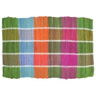 Cotton Colored Plaid Doormat