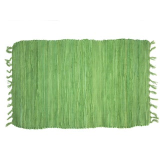Cotton Green Solid Doormat