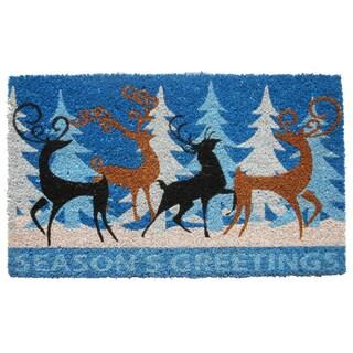 Coir Deers Family Doormat