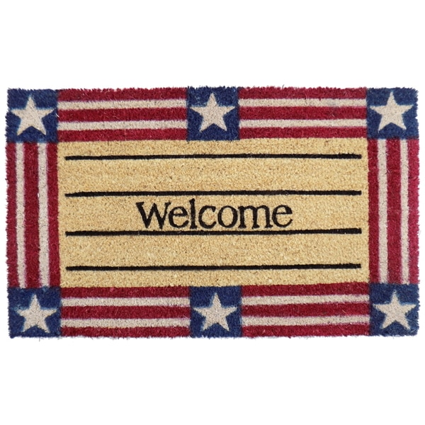 Shop Coir Welcome Stars And Stripes Doormat