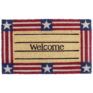 Coir Welcome Stars and Stripes Doormat
