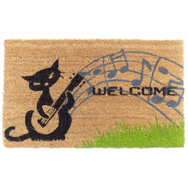 Coir Musical Cat Doormat